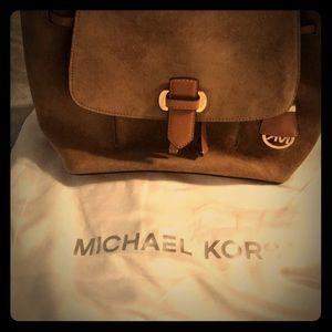 MK Suede Backpack